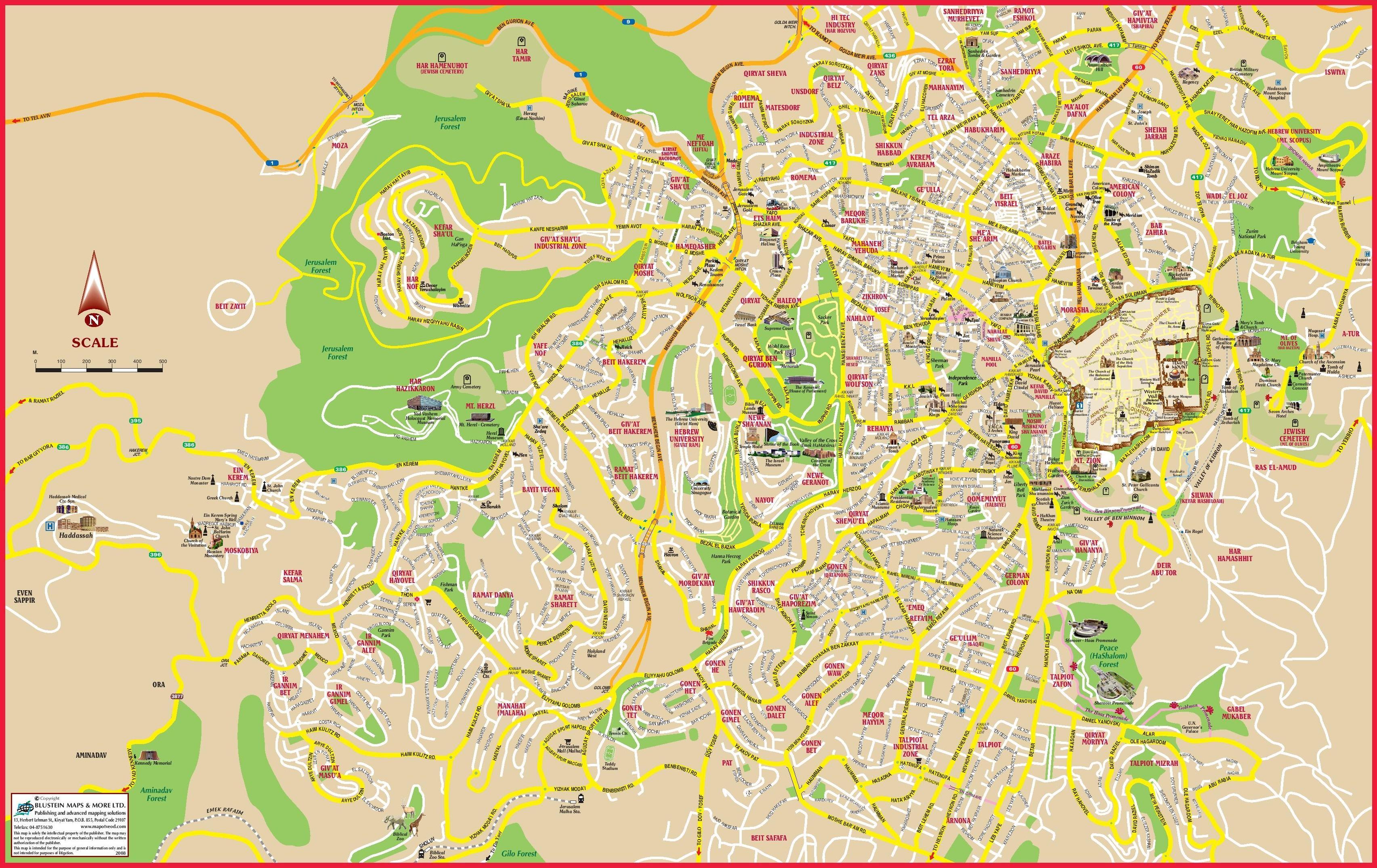 Jerusalem Karte Heute.Jerusalem Heute Map Karte Von Jerusalem Heute Israel