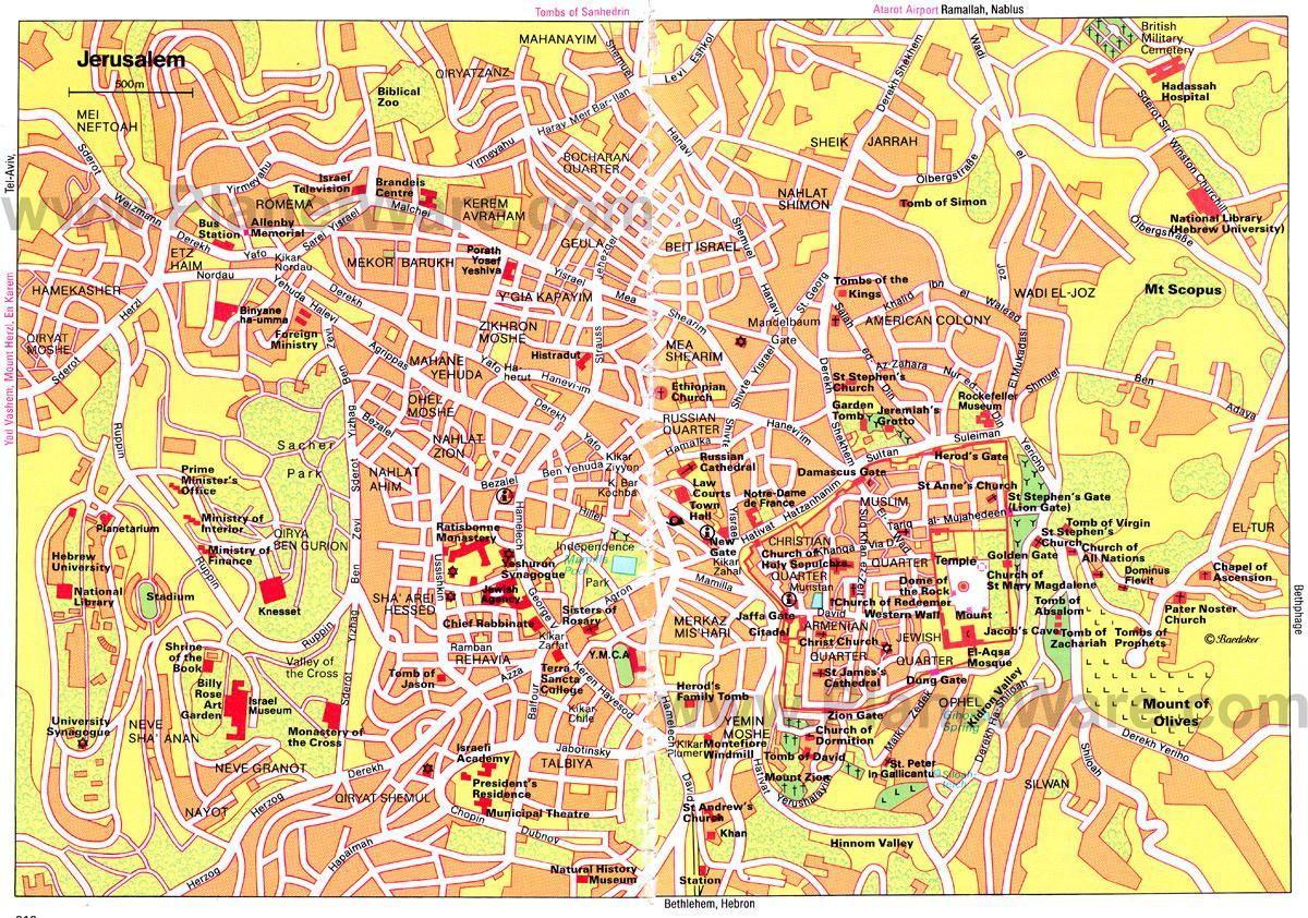 Jerusalem Karte Deutsch.Karte Von Jerusalem Karte Von Jerusalem Israel