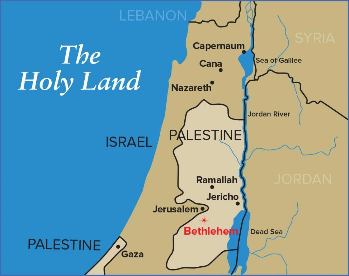 Bethlehem-Jerusalem-Karte - Karte von Bethlehem und Jerusalem (Israel)