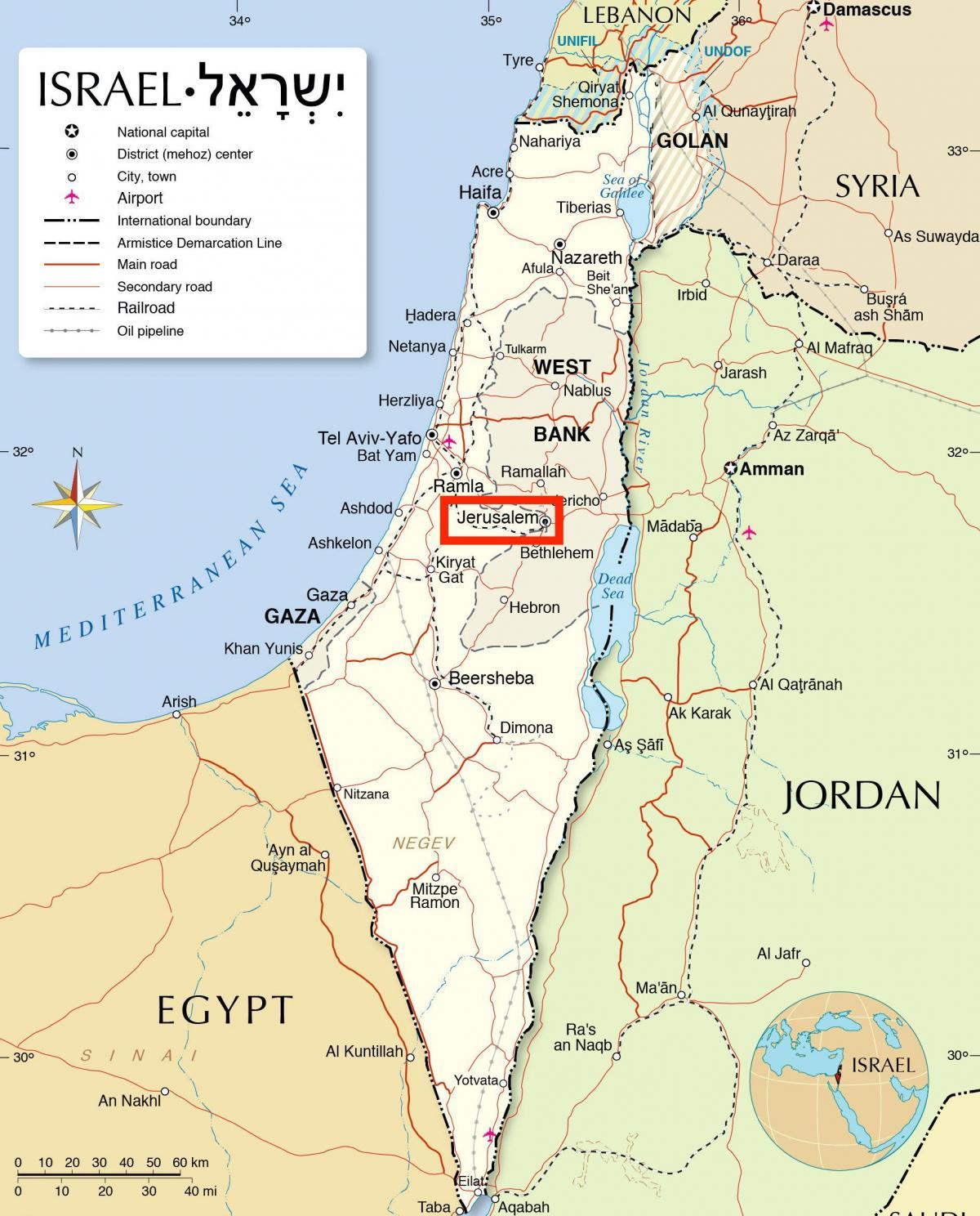 Karte Anzeigen.Jerusalem Auf Der Karte Jerusalem Auf Der Karte Der Welt