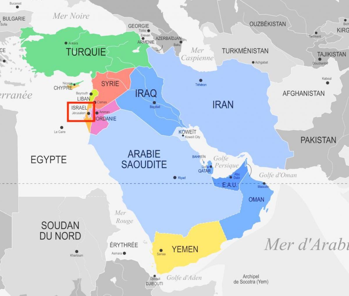 Karte Naher Osten Israel.Jerusalem Karte Mitte Ost Jerusalem Auf Karte Des Nahen