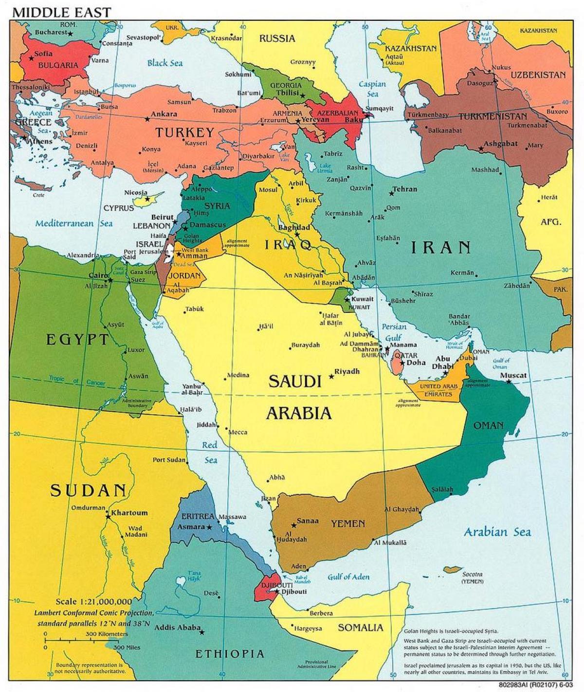 Nahost Karte.Jerusalem Middle East Map Middle East Karte Von Jerusalem Israel