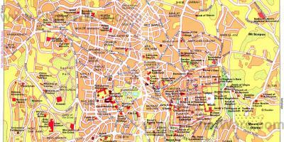 Jerusalem Karte Heute.Jerusalem Karte Karten Jerusalem Israel